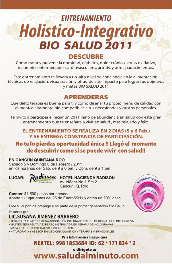 Curso Holistico en Cancun